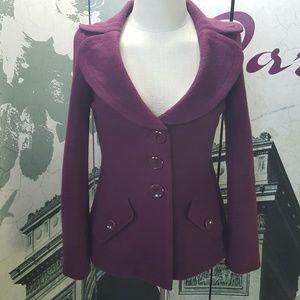 Classiques Entier 100% Merino Wool Coat Size S